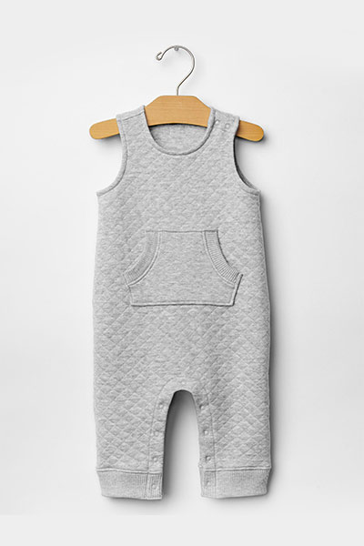 Quilted pocket one-piece